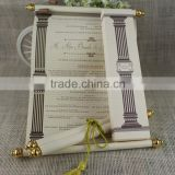 Scroll Customized Antique Luxury Box Wedding Invitations Card                                                                         Quality Choice