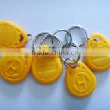 custom waterproof blue plastic rfid key tag