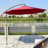 Furniture cast aluminum red color sun garden parasol outdoor garden umbrella                                                                         Quality Choice