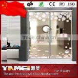 High quality 2016 New Design interior frosted glass bathroom door