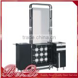 hair salon equipment classic style metal practical salon mirror makeup & hair cutting salon mirror table