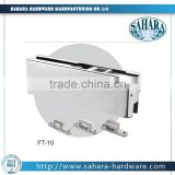 China Gaoyao stainless steel toughtened glass door bottom clamp and clip for Glass patch fitting