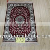 persian design 2X3foot 180lines artificial silk carpets and rugs