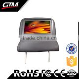 "9"" Lcd Tv Small Screen Car Taxi Headrest Advertising Audio Player Vga Lcd Monitor Taxi Advertising Display"