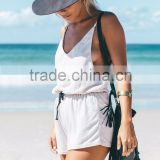 new arrival fashion factory price women dress white and black adult short rompers sext playsuit