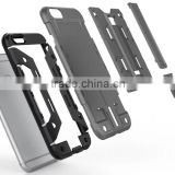 for iphone 6 card holder style Hybrid Armor Stand Case Cover