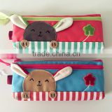 Osni Professional customed Eco-friendly cute animal colorful pencil pouch for kids & girls gift bag