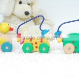 Miniature wooden animal abacus toy car