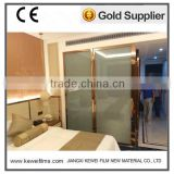 Matte White 5+5mm Switchable smart glass for bathroom ,for hotel