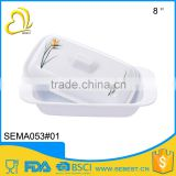 ODM custom logo square melamine plastic white butter dish                                                                         Quality Choice