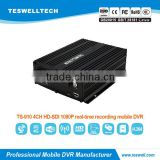 Teswell 4ch 3g 4g gps wifi SDI HD 1080P mdvr /3g mobile dvr for bus police car security solution vehicle mdvr