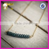 2016 new style green Turquoise gemstone pendant necklace beautiful charm beads custom necklace