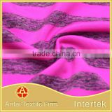 Alibaba China supplier wholesale pink color stripe nylon lycra blended fabric for gym wear                                                                                                         Supplier's Choice