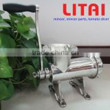 New Manual Meat Mincer, Hand Operated Meat Grinder Stainless Steel For Home Commercial Enterprise Multi-Specification