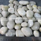 Top quality white pebbles, river stone in high polished finish