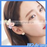 2016 Hogift Korean hair ornaments vintage bohemian headdress pearl flower hairpin side folder bangs hair clips MHo-11