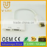 Manufacturer supplier male dp to female hdmi and vga converter cable with hd 2k*4k resolution supported