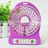 Mini Protable Fan Multifunctional USB Rechargerable Kids Table Fan LED Light 18650 Battery Adjustable 3 Speed F95B Multi Colo