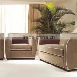 italian furniture sofa designs / turkish style hotel fabric sofa / retro exquisite hotel sofa set HS54