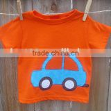 Wholesale casual t shirt & shorts design printed cotton childrens tee shirt for boys