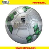 Ultra bright Official size 5 leather machine stitched promotion football