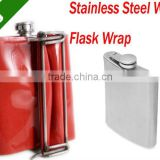 Stainless Steel Wine Flask Wrap(handle to handle image transfer,Click Design,easy to ues)