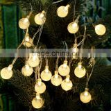 2.2m Christmas Warm White Crystal Ball Globe Bubble String 20 LED Lamp Fairy Light for Party Wedding Home Decor Gift