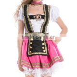 Halloween Party Sexy Oktoberfest German Beer Girl Costume Bar Maid Wench Fancy Dress Bavarian Girl Costume