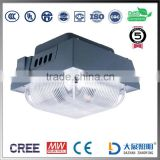 high brightness CE RoHS FCC approved 105lm/w 120W led canopy light for gas station Meanwell Driver