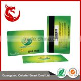 Hot selling glossy plastic pvc membership magnetic stripe card making