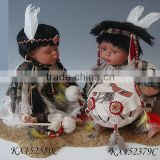 Collection creative 15inch porcelain Indian baby dolls for sale                                                                         Quality Choice