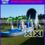 Giant Tropical Inflatable Jungle Water Slide With Pool For Sale xixi toys