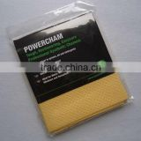 Super oil absorbent chamois car cleaning cloth ( 100%viscose + PU coating + perforation)