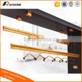 Celing drilling mounted Metal wire and pulley Hand lifting Aluminium clothes drying rack