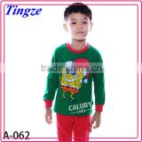 Wholesale newest children's lovely cotton kids pajamas baby clothes pajamas set for winter/fall