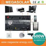 2016 Top 600W solar generator system with building lithium battery for home backup power source
