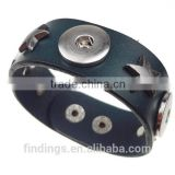 CJ2046 leather wrap bracelet wholesale,Bali Clicks Original PU Bracelet jewelry,snap button charm bracelet jewellery