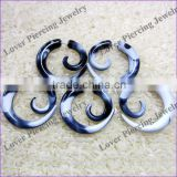 High Polish UV Acrylic Ear Fake Spiral Plug Body Piercing Jewelry [UV-FE432G]