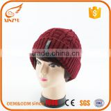 High quantity beanie hats mens winter knitted beanies with top ball                                                                                                         Supplier's Choice