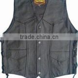 Biker leather Vest , Lederweste / leather vest / leather waist coat , Ladies motorcycle leather vest