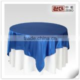 Round Shape Navy Satin Table Cloth for Home or Restaurant Used