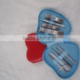9pcs manicure set heart shape manicure set for girls cheap manicure set for promotion