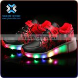 christmas Wholesale factory cheap price popular kids led shoes pu light up sneakers hight quality luminous running led shoes