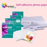 150G a4 inkjet glossy self adhesive photo paper