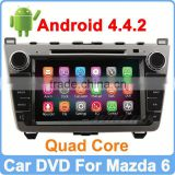 Ownice C200 Quad Core 1.6GHz Android 4.4.2 For mazda 6 in dash car dvd player HD 1024*600