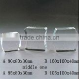 Pure crystal blank block with engraved for crystal trophy and award (R-0285)