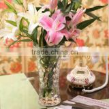 New Arrival crystal glass flowers vase(R-1469