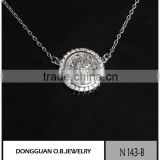 Round Shape Famous silver high quality Necklace