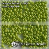 High Quality Fashion JS Glass Seed Beads - P44# Painted Apple Green Rocailles Beads For Garment & Jewelry