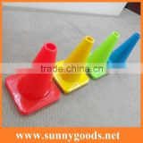 30cm green/yellow/blue/pink colored reflective road safety small plastic mini pvc traffic cone